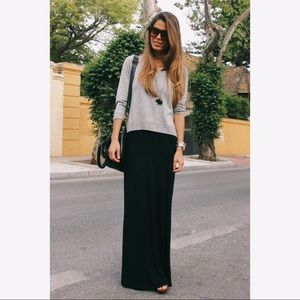 Banana Republic Black Maxi Skirt